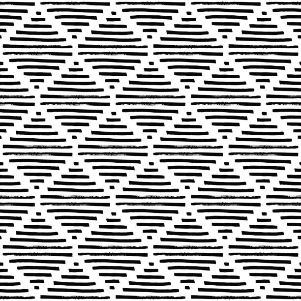 Simple geometric pattern. Black and white ornament. vector art illustration