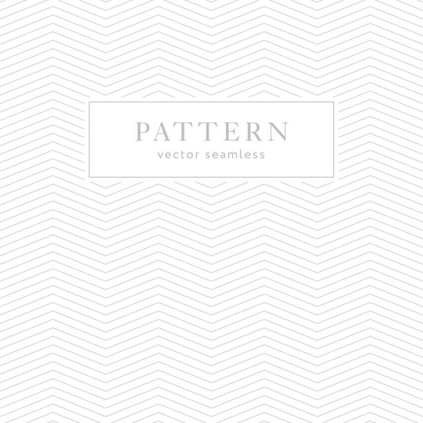 Simple geometric seamless pattern Simple chevron seamless pattern. Light collection. Zigzag textured background design. Template for prints, wrapping paper, fabrics, covers, flyers, banners, posters and placards. Vector illustration. zigzag stock illustrations