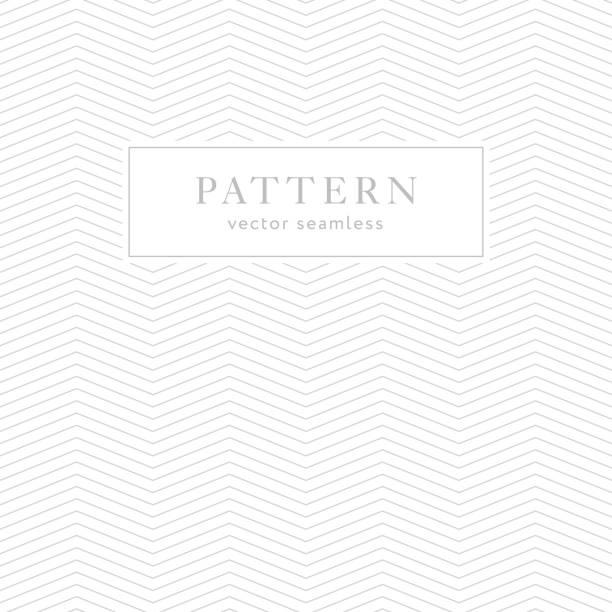 illustrazioni stock, clip art, cartoni animati e icone di tendenza di simple geometric seamless pattern - zigzag