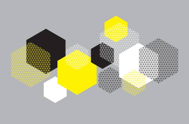 Simple geometry pattern with line mash.  Grid style hexagone motif for surface design for print and web. Modern geometry tech vector illustration for header, card, invitation. Simple geometry pattern with line mash.  Grid style hexagone motif for surface design for print and web. Modern geometry tech vector illustration for header, card, invitation. hexagon stock illustrations