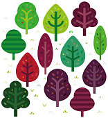 A selection of simple graphic trees
