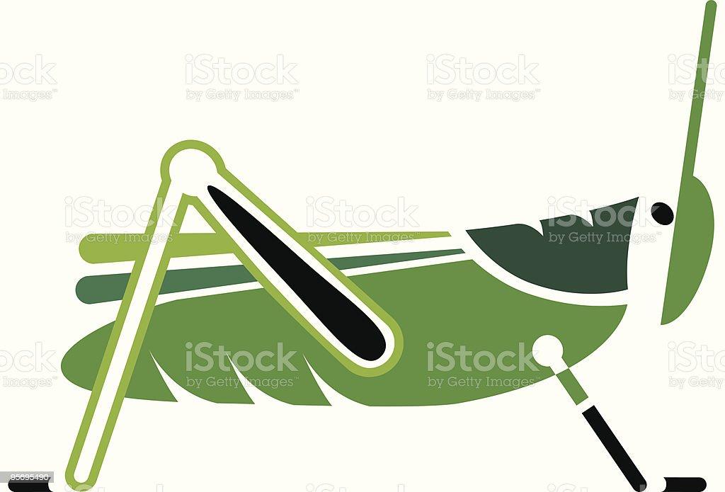 Simple Grasshopper royalty-free stock vector art