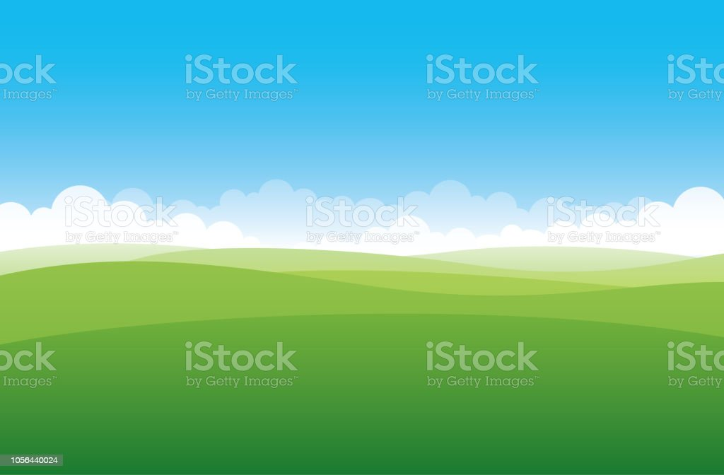 Simple green field - Royalty-free Agricultura arte vetorial