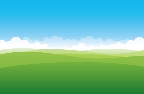 単純なグリーン フィールド - 空点のイラスト素材/クリップアート素材/マンガ素材/アイコン素材