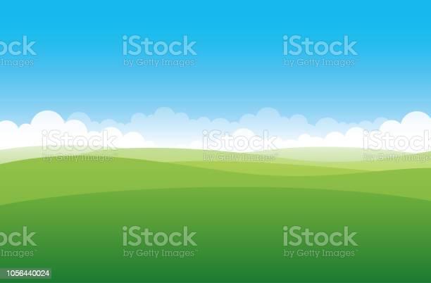 Simple Green Field - Arte vetorial de stock e mais imagens de Agricultura