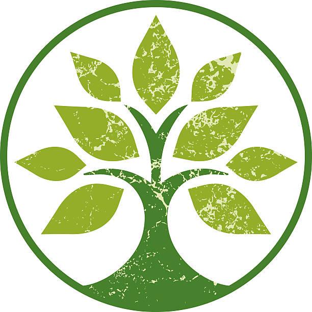 Einfache grunge Baum – Vektorgrafik