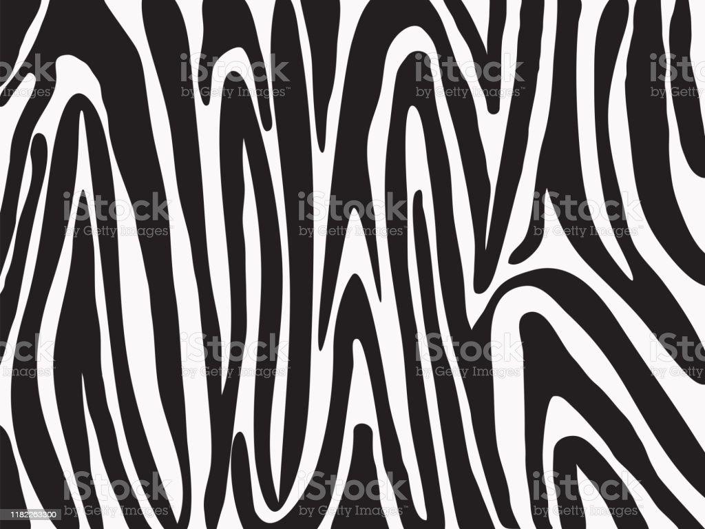 Vetores De Mao Simples Desenho Preto E Branco Listras Padrao Zebra