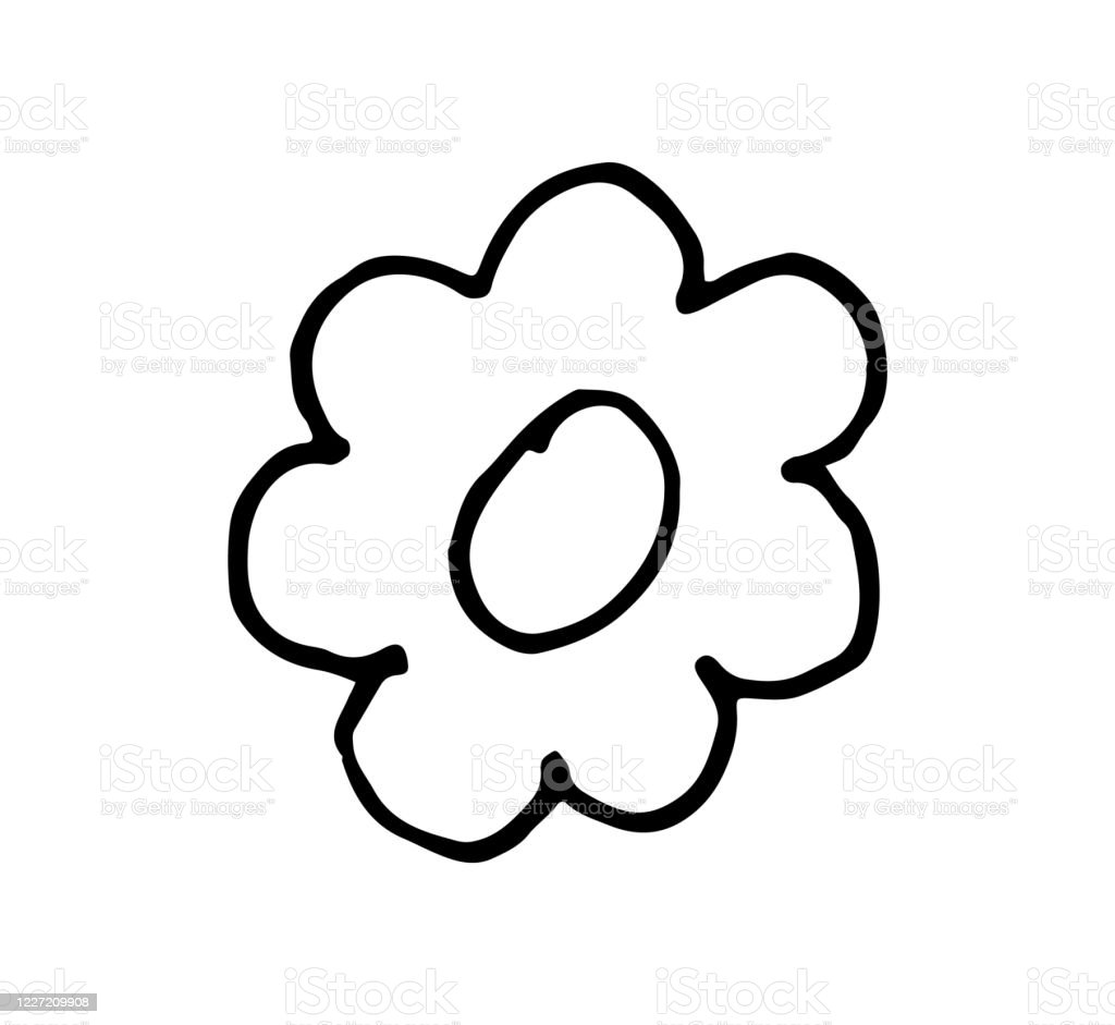Simple Hand Drawing Cartoon Doodle Vector Of A Flower Stock Illustration Download Image Now Istock