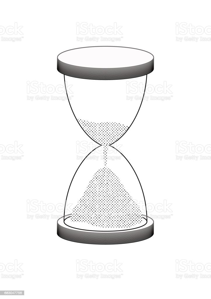 simple hourglass illustration simple hourglass illustration - arte vetorial de stock e mais imagens de ampulheta royalty-free