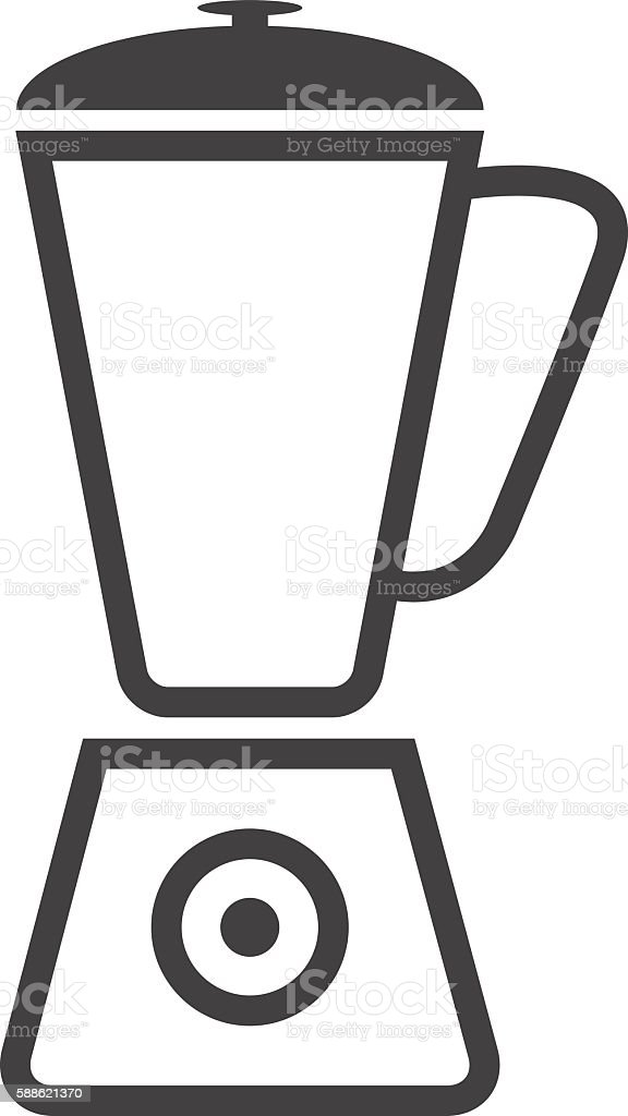 Simple icon blender. Blender gray icon. Line graphics. vector art illustration