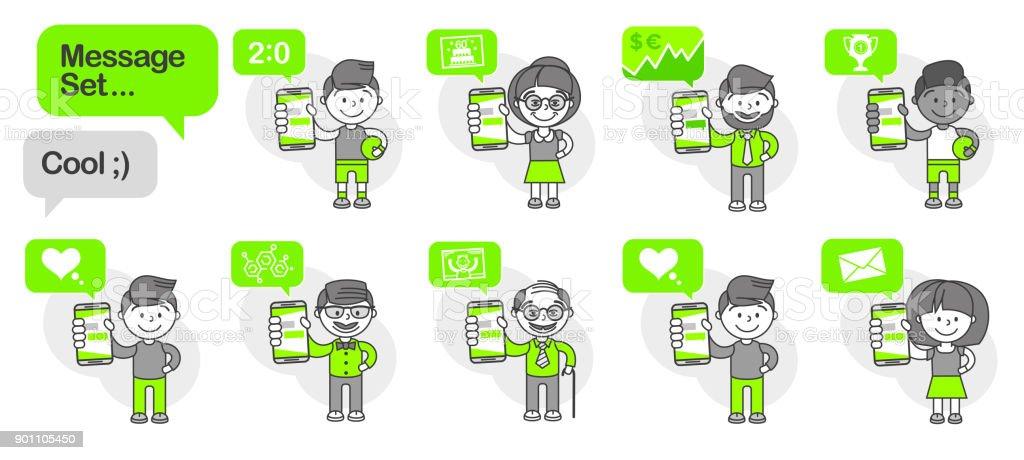Simple flat stylistics adaptation to corporate style. Set message...