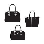 Woman Bag Vector Girls Handbag Or Purse And Shoppingbag Or Baggy ... 45f5f6d520