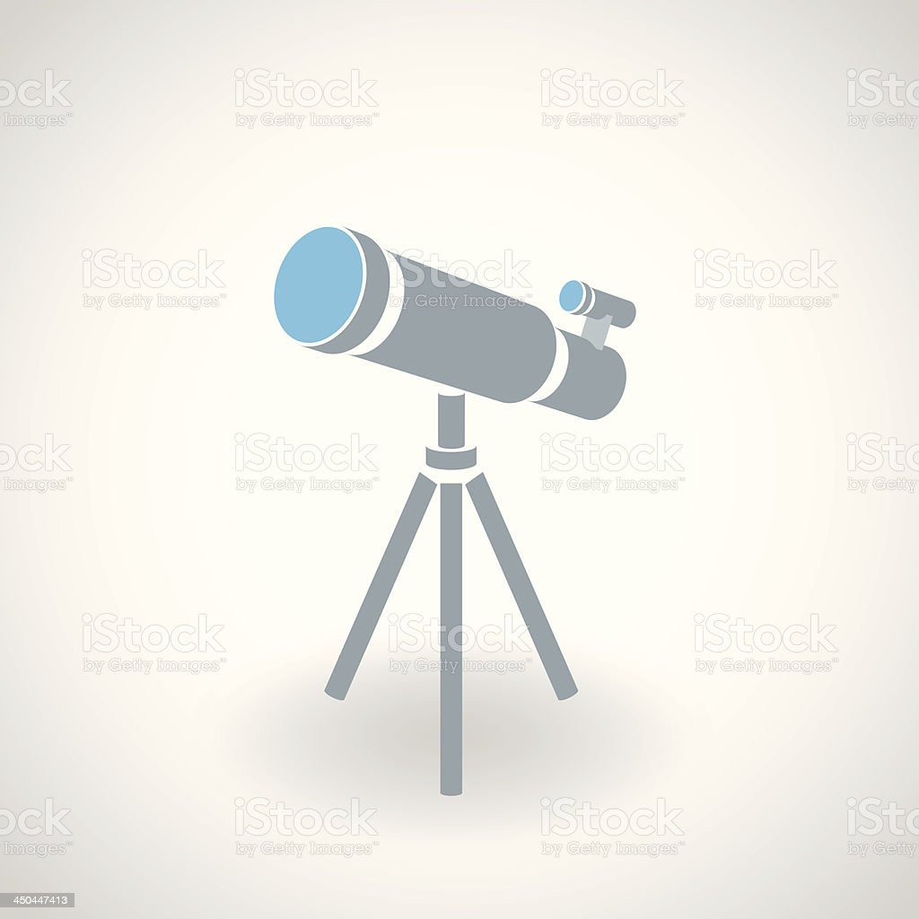 Simple icon of 3d telescope royalty-free stock vector art