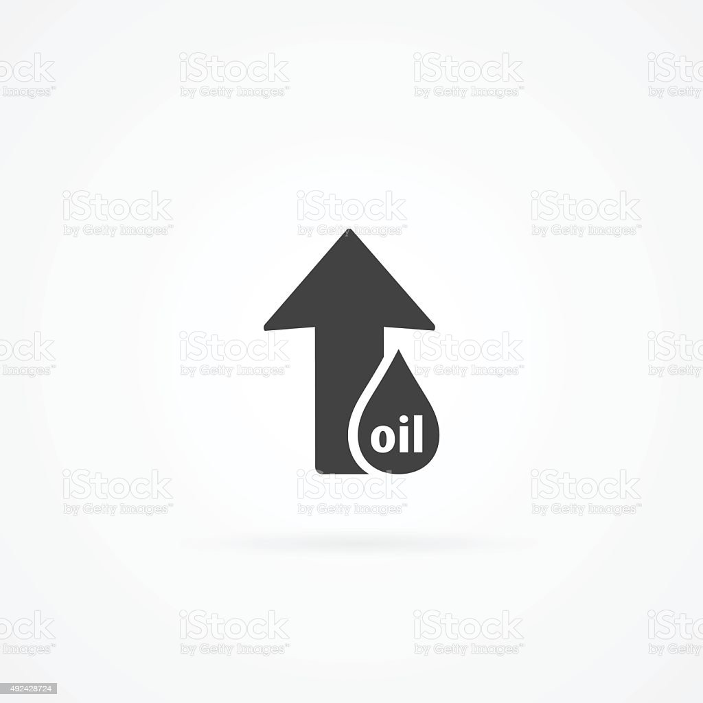 Simple icon of arrow up and drop of oil stock vector art 492428724 crude oil drop 2015 arrow symbol business finance and industry biocorpaavc Gallery