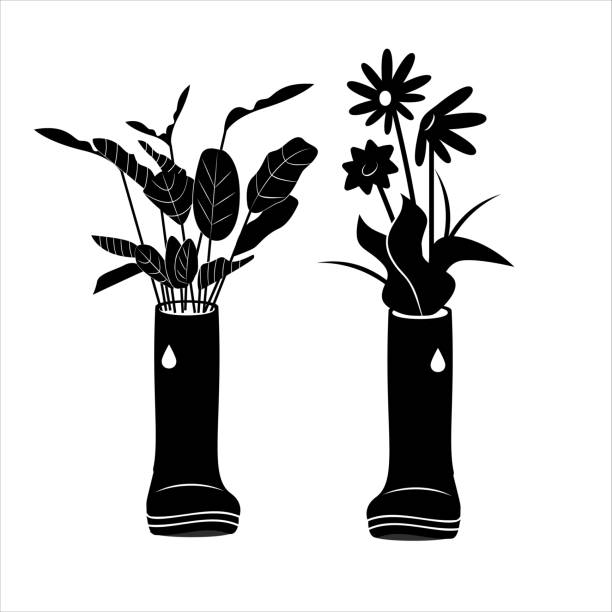 simple icon of flowerbed. vector illustration - square foot garden stock illustrations, clip art, cartoons, & icons