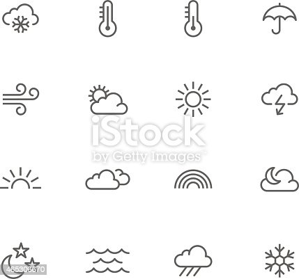 Icon Set, Weather on white background, made in adobe Illustrator (vector)