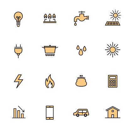 Simple Icon Set: Living Energy