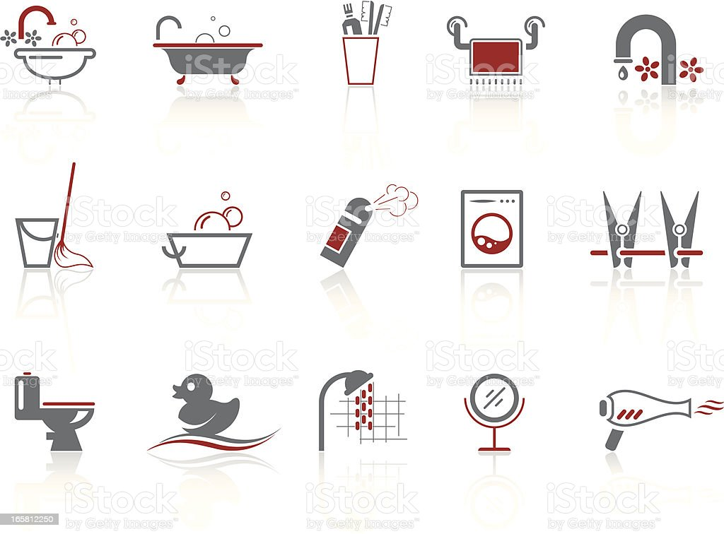 Simple icons – Bathroom & WC vector art illustration