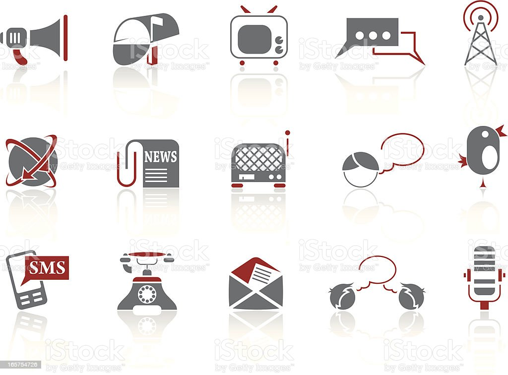 Simple icons – Communication royalty-free stock vector art