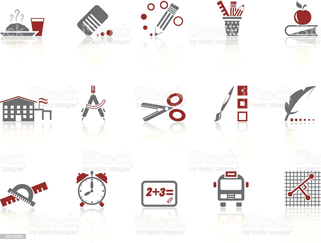 Simple icons – Education royalty-free stock vector art