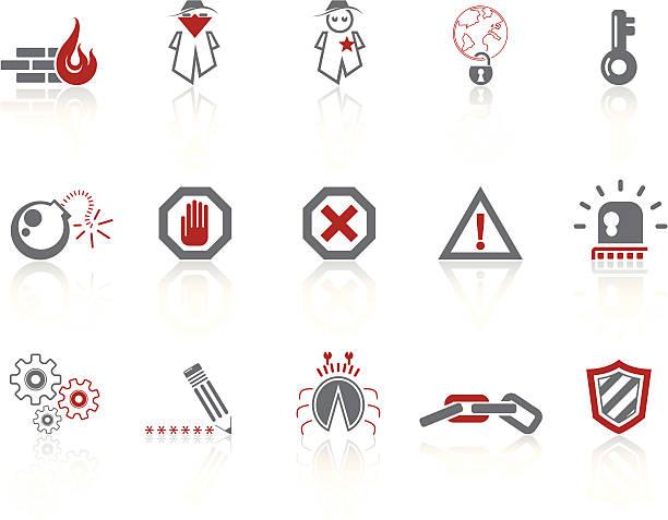 einfache symbole-internet-sicherheit - kreuzkette stock-grafiken, -clipart, -cartoons und -symbole