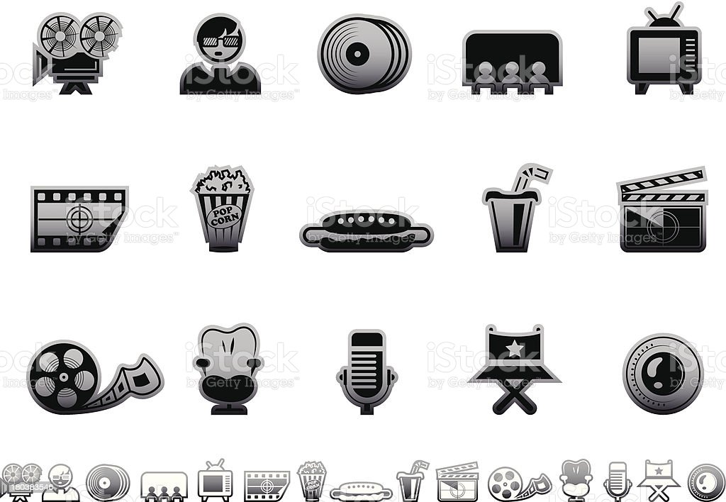 Simple icons – Movies royalty-free simple icons movies stock vector art & more images of 3-d glasses