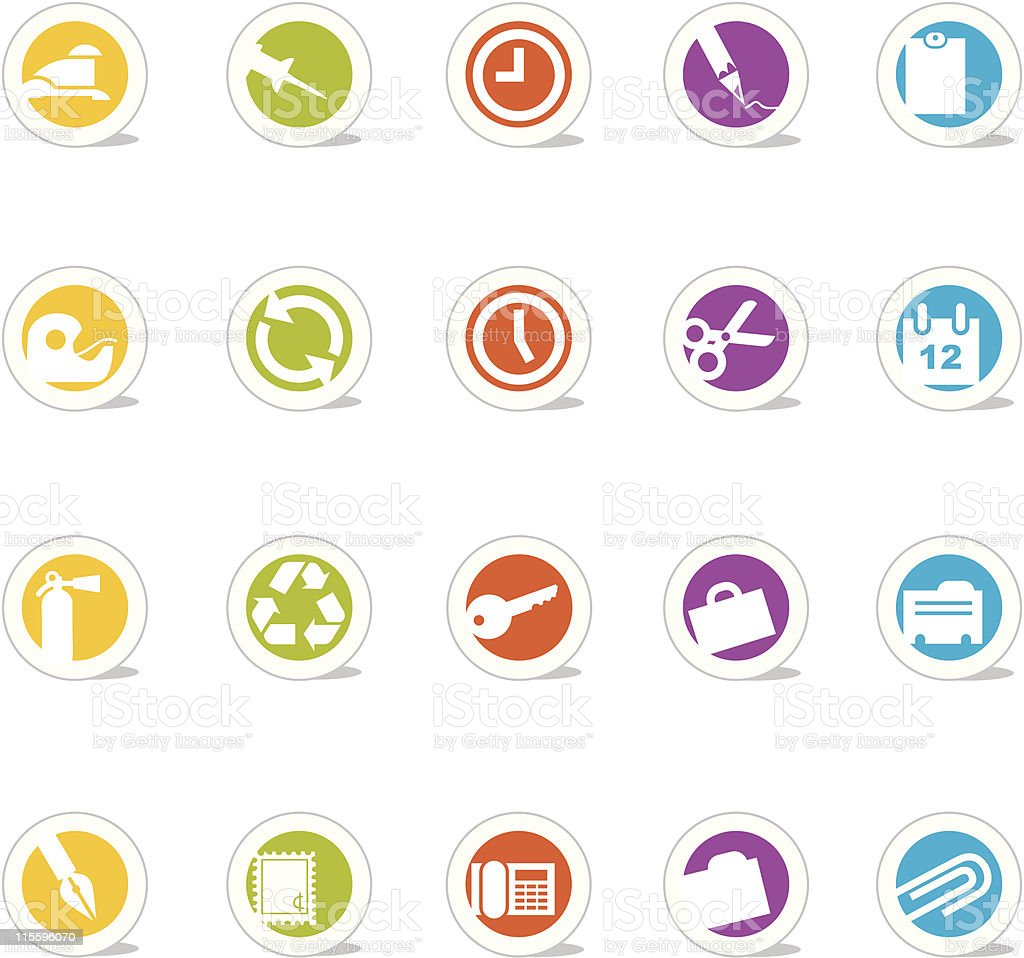 Simple Icons Office (vector) vector art illustration