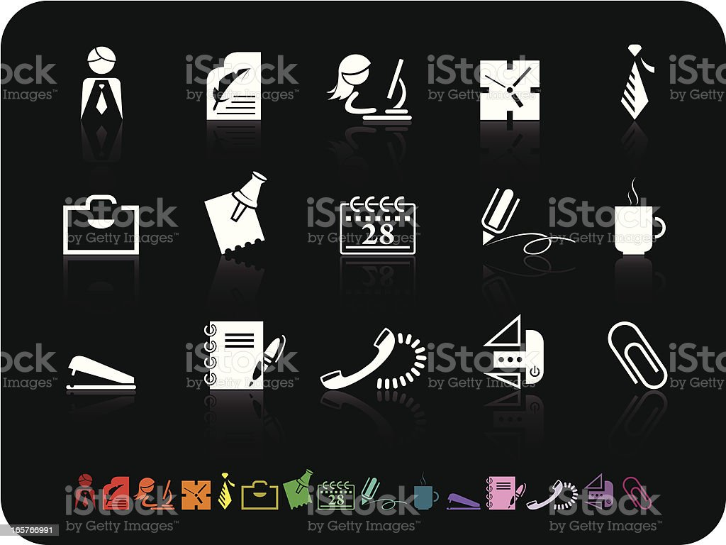 Simple icons- Office royalty-free stock vector art