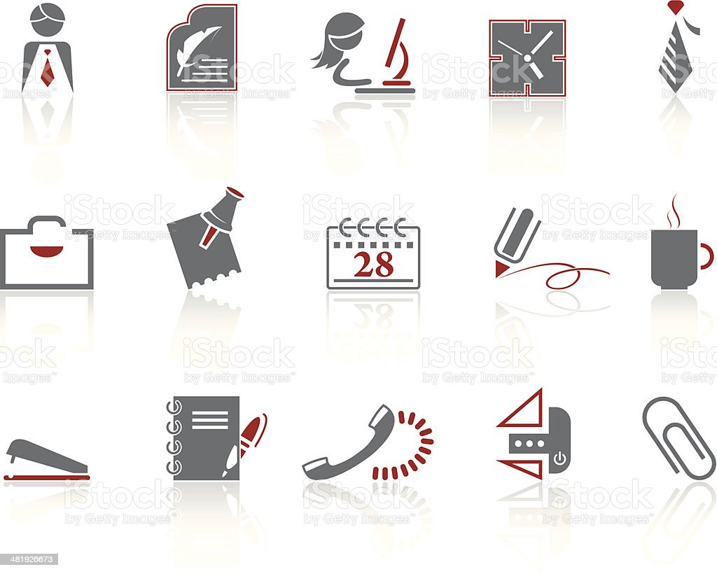 Simple icons – Office vector art illustration