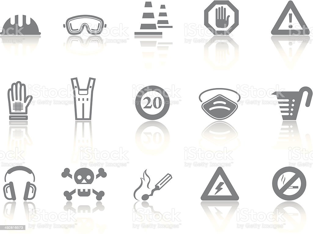 Simple icons – Safety vector art illustration