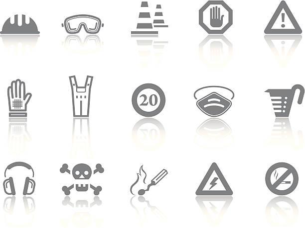 einfache symbole-sicherheit - schutzbrille stock-grafiken, -clipart, -cartoons und -symbole