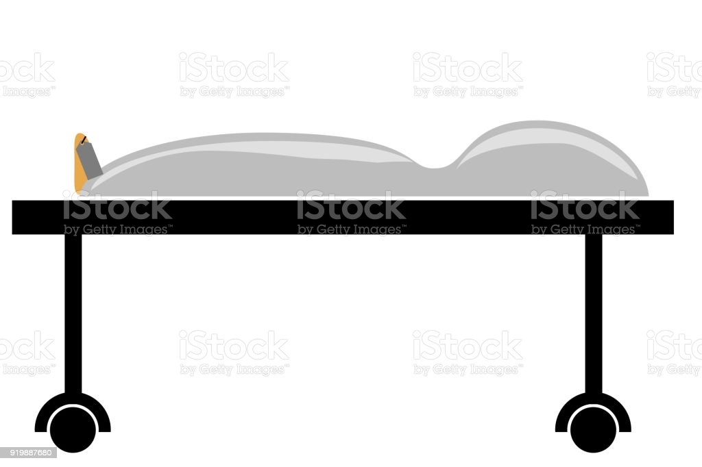 Simple Illustration, Death Body vector art illustration
