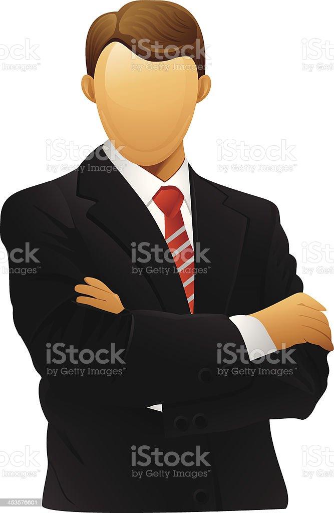 Simple illustration of businessman vector art illustration