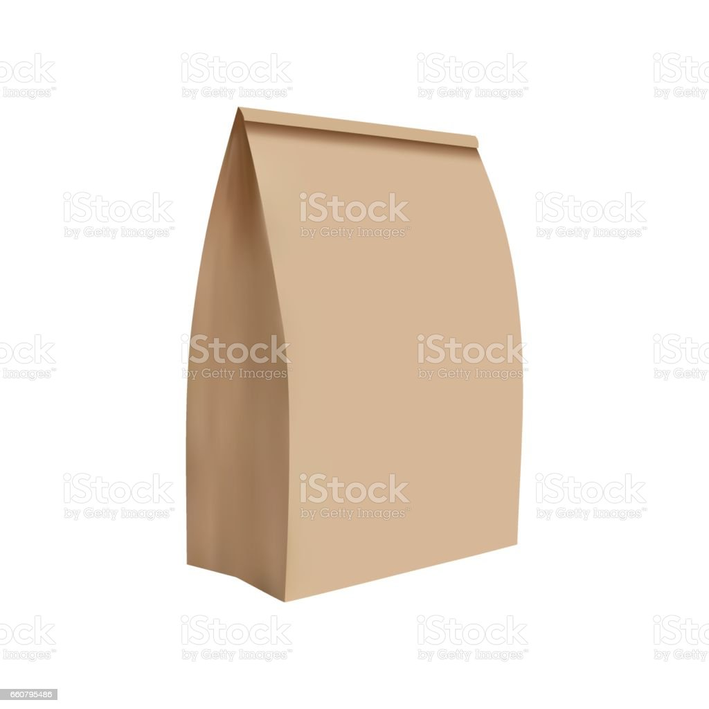 Simple illustration of paper bag, realistic illustration vector art illustration