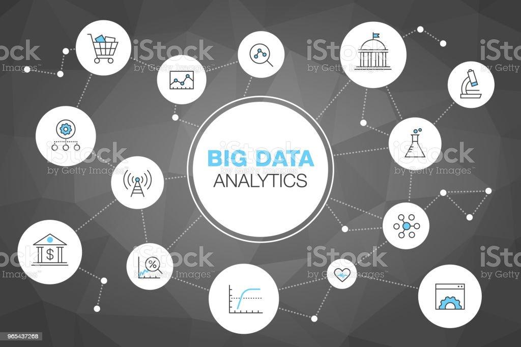 Simple infographic for big data analytics concept with stroke icons simple infographic for big data analytics concept with stroke icons - stockowe grafiki wektorowe i więcej obrazów abstrakcja royalty-free