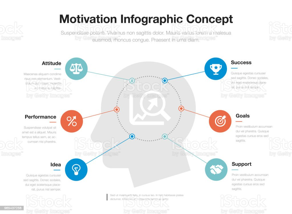 Simple infographic for motivation concept template with head and and growing graph as main symbol royalty-free simple infographic for motivation concept template with head and and growing graph as main symbol stock vector art & more images of abstract