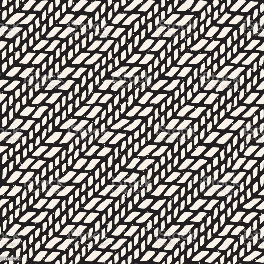 Einfach Tinte Geometrische Muster Monochrom Schwarzen Und Weißen