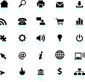 internet black and white icon