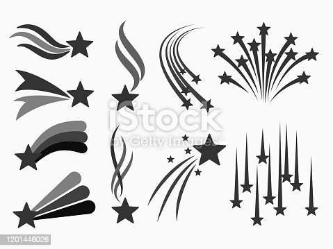 simple isolated set silhouette stars symbols icon sign for background, banner, label, cover, card etc. vector design.