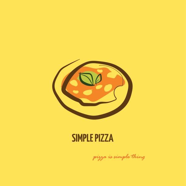 ilustrações de stock, clip art, desenhos animados e ícones de simple italian pizza - cooker happy