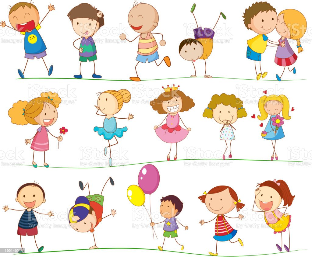 Simple kids royalty-free stock vector art