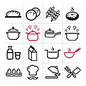 simple kitchen icons