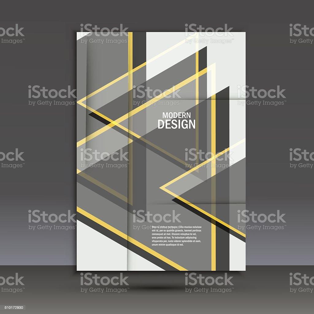 Ilustración de Simple Triángulos Grande Sobre Fondo Oscuro Vector De ...