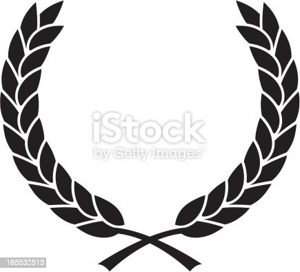 Simple Laurel Wreath Stock Vector Art Amp More Images Of