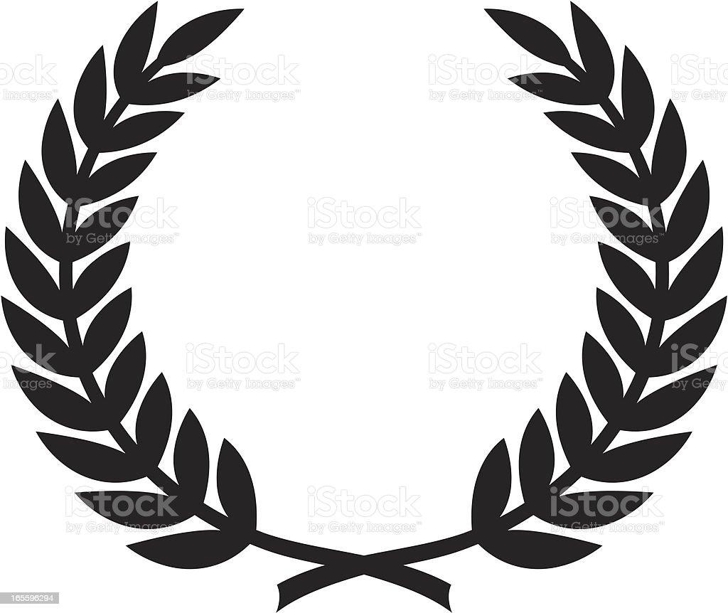 Simple corona de laurel ilustración de simple corona de laurel y más banco de imágenes de clip art libre de derechos