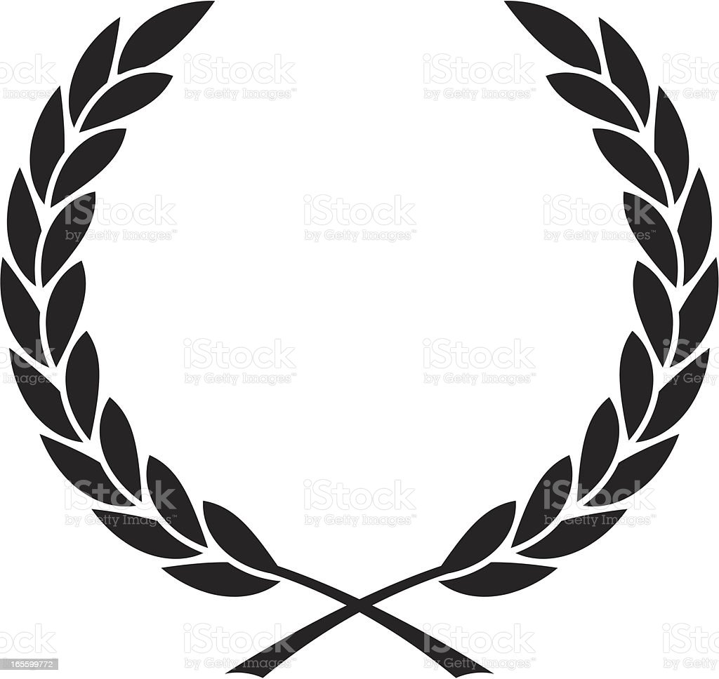Simple couronne de laurier cliparts vectoriels et plus d - Clipart couronne ...