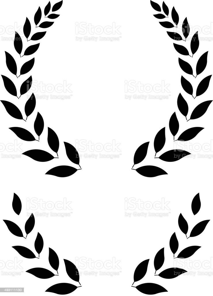 simple laurel wreath - vector illustration vector art illustration