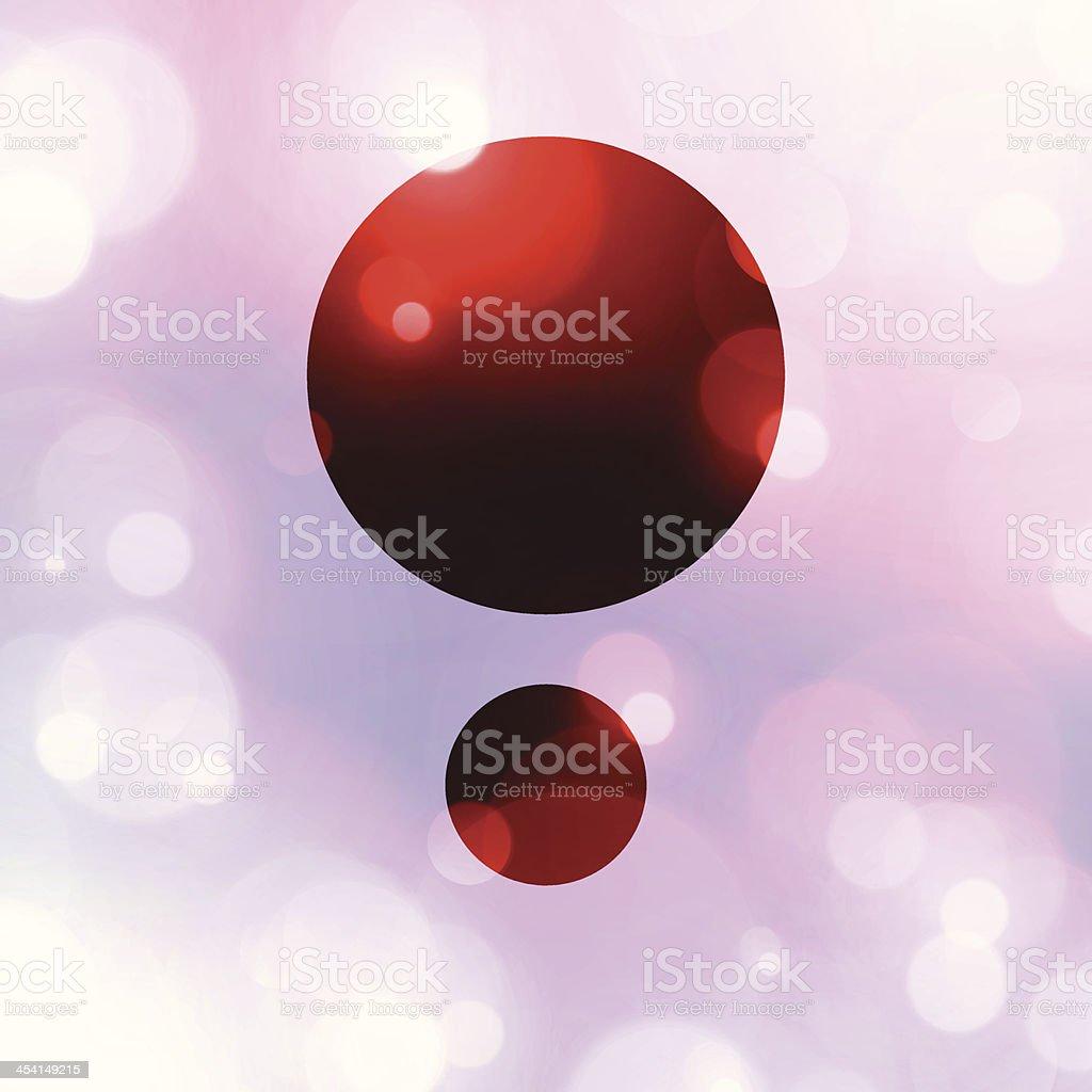 Simple Layout Copy Space Between Blurry Defocus Light Flares royalty-free stock vector art