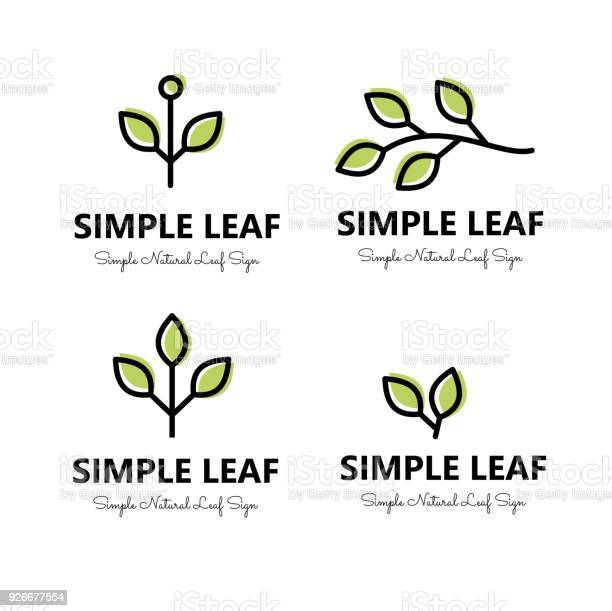 Simple leaf and brnaches signs set vector vector id926677554?b=1&k=6&m=926677554&s=612x612&h=vs hxn bh4fxpn59gcxppabzx083tmgz08thjvb7bqg=