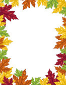 A simple design element made with colourful leaves.